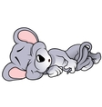 Sleeping Mouse vector image vector image