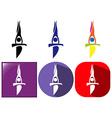 Sport icons for gymnastics on balance bar vector image vector image