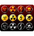 Steel shields with warning symbols vector | Price: 1 Credit (USD $1)