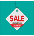 tag sale sale limited time save up to 70 i vector image vector image