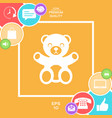 teddy bear icon vector image vector image