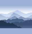 the pine trees forest vector image