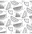 watermelon summre fruit black white concept fern vector image vector image