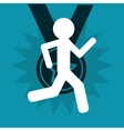 winner pictogram with medal icon vector image