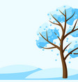 winter background with tree vector image