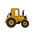 Yellow Farm Tractor Icon on White Background vector image vector image