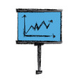 presentation board with market data and statistics vector image