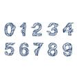Handwritten linear font vector image