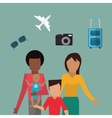 traditional family traveling image vector image