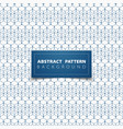 abstract blue geometric hexagon pattern circle vector image vector image