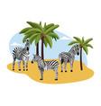 african landscape backdrop with zebras flat vector image vector image