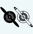 Aircraft propeller vector image vector image