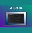 aldor programming language vector image vector image