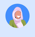 arab woman face avatar happy arabic girl wearing vector image vector image