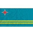 Aruba paper flag vector image vector image