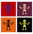 assembly flat icons halloween skeleton vector image vector image