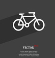 bike icon symbol Flat modern web design with long vector image
