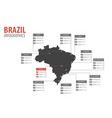 brazil map shape infographics vector image
