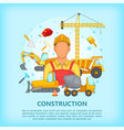 building process concept erector cartoon style vector image