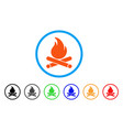 campfire rounded icon vector image