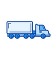 cargo truck line icon vector image vector image
