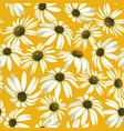 chamomile flowers seamless patern vector image vector image