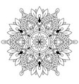circular pattern in form of mandala for henna vector image vector image
