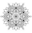 Circular pattern in form of mandala for henna
