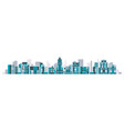 cityscape glass buildings residential vector image