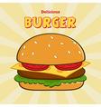 Clip Art Burger Design vector image vector image