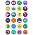 Color round traveling icons set vector image vector image
