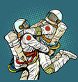 couple in love astronaut man and woman love vector image vector image