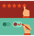 customer review concepts in flat style vector image vector image