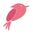 cute bird animal icon vector image