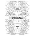 cyberpunk futuristic poster tech abstract poster vector image vector image