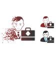 damaged pixel halftone waves accounter icon vector image vector image