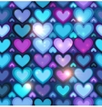 dark blue hearts seamless pattern vector image vector image