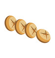 delicious round bread loaves with cross on top vector image vector image