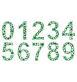 digits consisting of leaves vector image