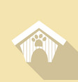 dog house icon with a long shadow vector image vector image
