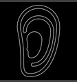 ear the white path icon vector image vector image