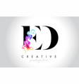 ed vibrant creative leter logo design vector image vector image