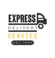 express delivery service est 1986 logo design vector image