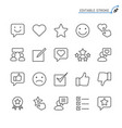 feedback and review line icons editable stroke vector image