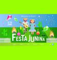 festa junina landing page vector image vector image