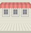 Flat Design Awning With Three Windows vector image vector image