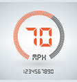 futuristic speedometer interface isolated on vector image vector image