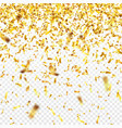 golden confetti with ribbon falling shiny vector image vector image