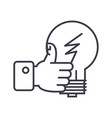 good idea hand with thumb up linear icon sign vector image vector image