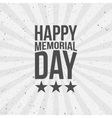 Happy Memorial Day Text vector image vector image